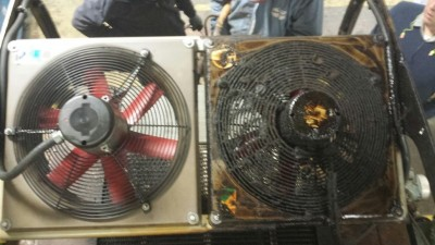 Fan Cleaning with Dry Ice Blasting